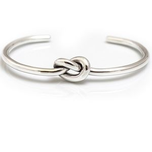 Stella & Dot Silver Knot Bangle